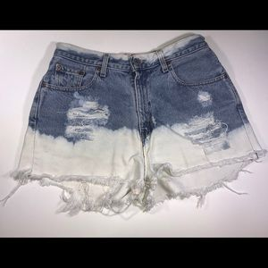 Bleached Levi Shorts!